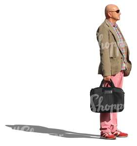 man with a briefcase standing
