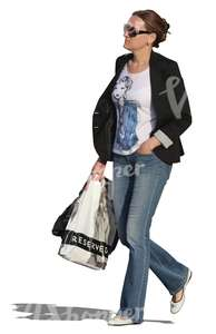 cut out woman shopping