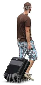 man carrying a suitcase