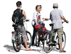 three bikers standing