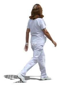 cut out hospital worker walking