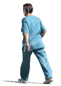 cut out nurse walking
