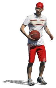 cut out man with a basketball