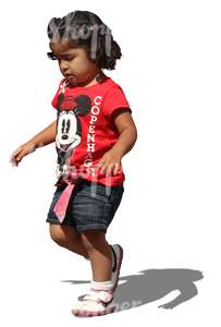 cut out black child walking