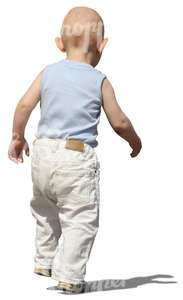 cut out toddler walking