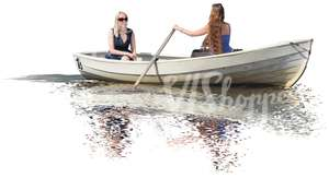 two women rowing a boat