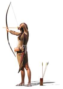 woman shooting a bow
