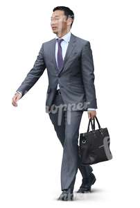 asian businessman with a handbag