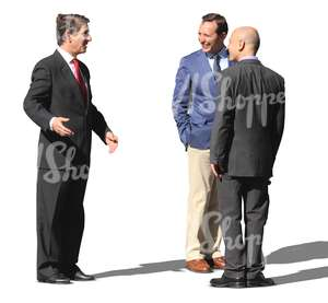group of businessmen talking