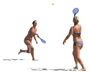two women playing racquetball