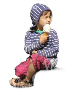 child eating an icecream