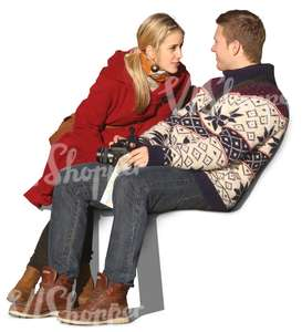 couple sitting and talking