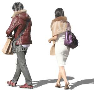 asian man and woman walking side by side