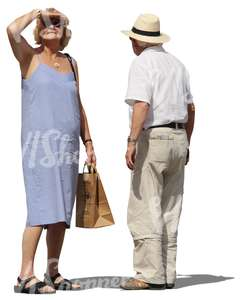 elderly couple standing