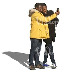 black couple taking a selfie