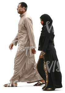 muslim couple walking