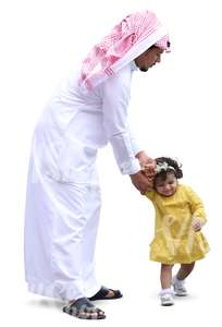arab man playing with her daughter
