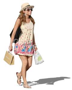 woman in a dress doing shopping