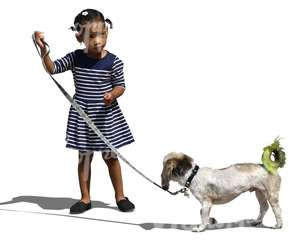 african girl with a dog
