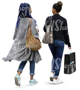 two cut out black women doing some shopping