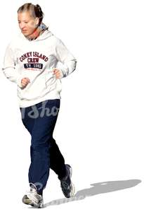 cut out woman jogging