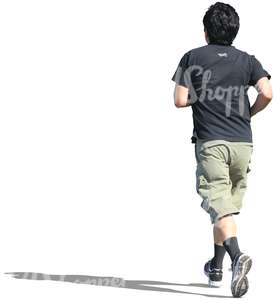 cut out man running