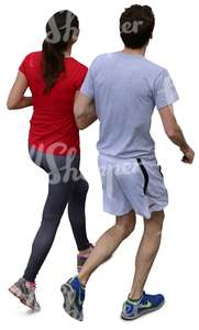 a couple jogging