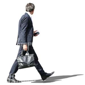 businessman with a suitcase walking