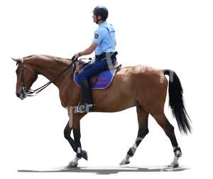 police officer riding a horse