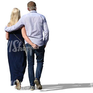 couple walking with their arms around each other