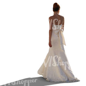 woman in a wedding dress standing