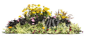 cut out flowerbed