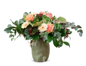 cut out flower bouquet in a vase