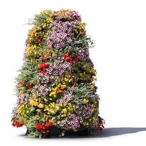 decorative tower of flowers