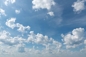daytime sky with many white clouds