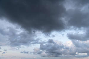 sky with pale grey clouds