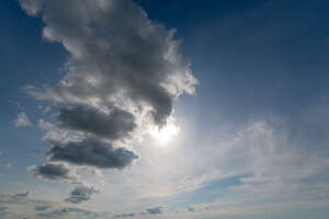 sky with sun and backlit cloud