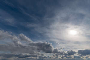 daytime sky with sun above the clouds