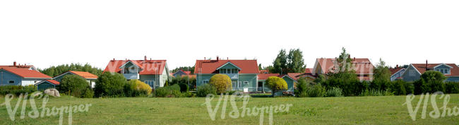 background with private subarban houses