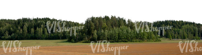 background with fields and trees