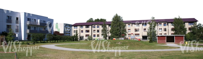 cut out background with residential buildings