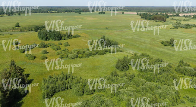 bird-eye view of a countryside in summer