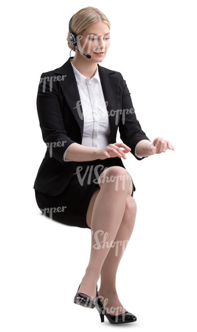 businesswoman working behind a desk