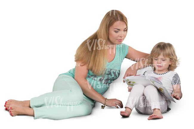 mother and daughter sitting on a sofa