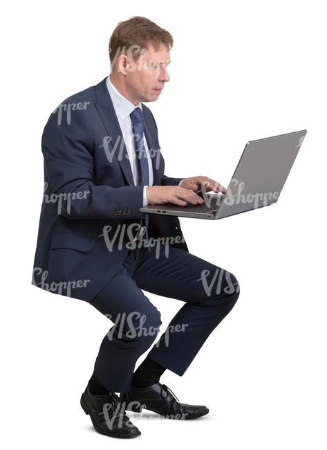 businessman working with a laptop