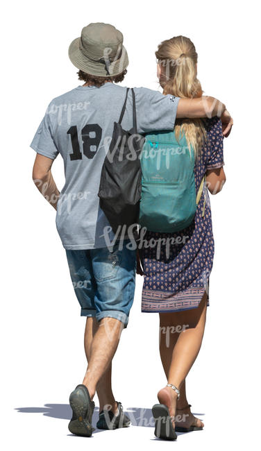 youg couple walking