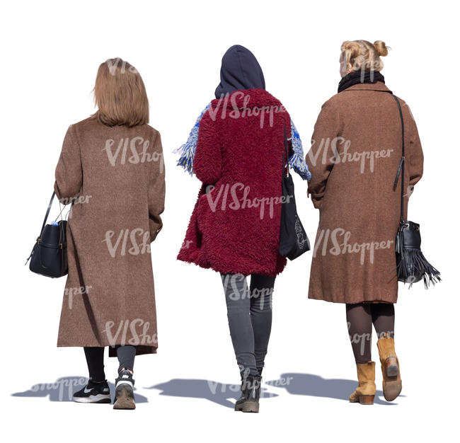 three women walking on a sunny autumn day