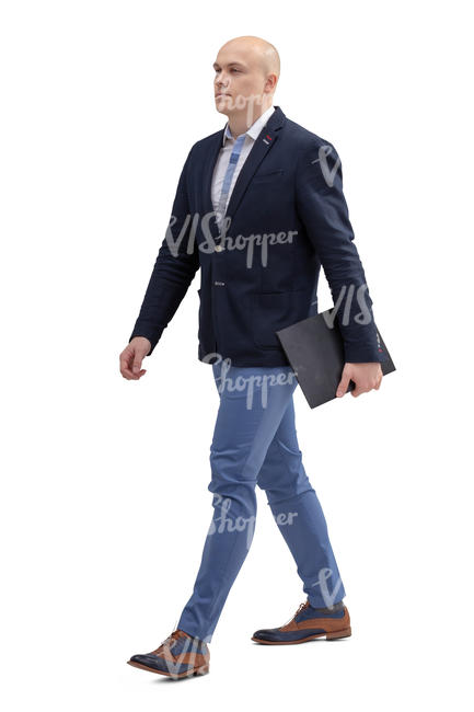 office worker walking