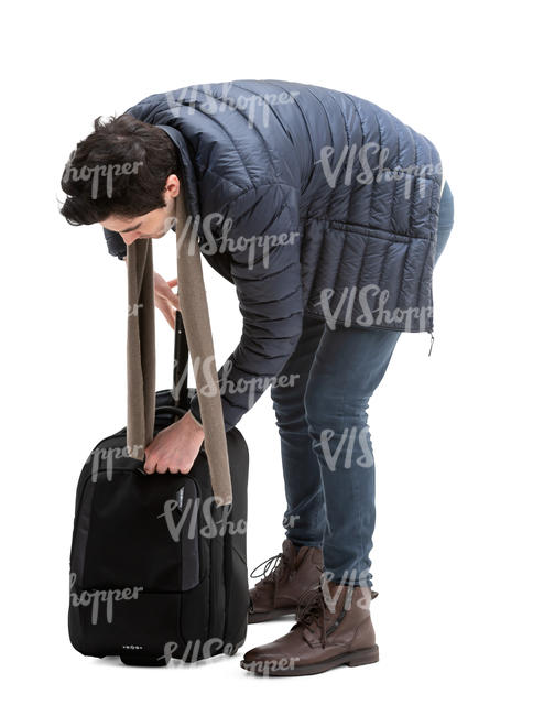 man packing his suitcase