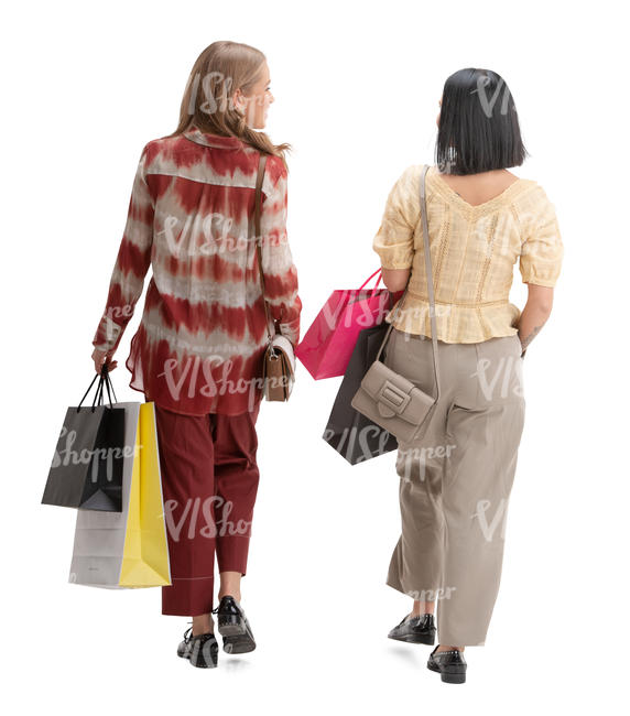 two women shopping and talking